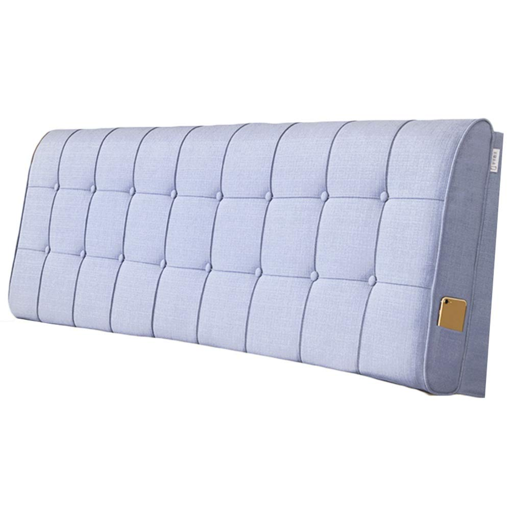 D With headboard-200cm WENZHE Upholstered Fabric Headboard Bedside Cushion Pads Cover Bed Wedges Backrest Waist Pad Cloth Soft Case Home Hotel Backrest Washable, 4 colors, 2 Kinds Inssizetion Method