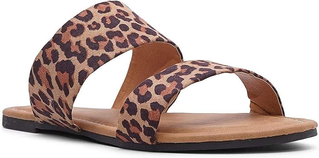 Womens Two Strap Sandal Slide
