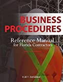 Business Procedures: Reference Manual for Florida Contractors