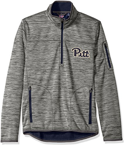 NCAA Pittsburgh Panthers Men's Fast Pace Half Zip Pullover Jacket, Large, Heather Grey (Pittsburgh Panthers Ncaa Applique)