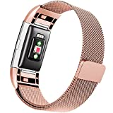 Maledan For Fitbit Charge 2 Bands, Stainless Steel