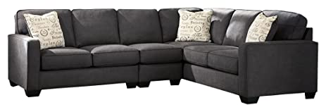 Ashley Furniture Signature Design - Alenya 3-Piece Sectional - Right Arm Facing Loveseat with  sc 1 st  Amazon.com : ashley furniture 3 piece sectional - Sectionals, Sofas & Couches