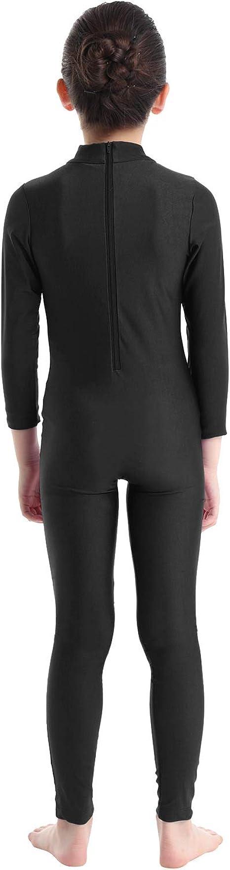 iiniim Girls Long Sleeve Ballet Dance Gymnastics Kids Catsuit Bodysuits Unitard Dancewear Costume