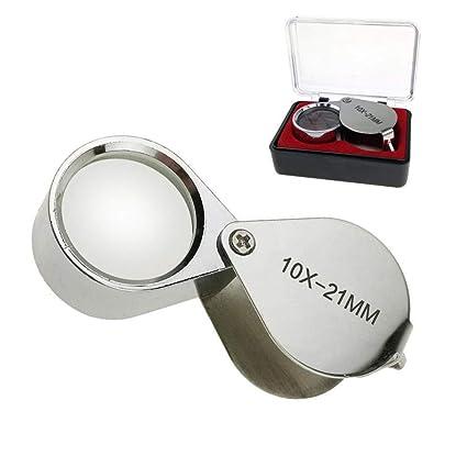 e9a6f1eda4bbe Amazon.com  Aiernuo Loupes 10x Glass Jeweler Loupe Loop Eye ...
