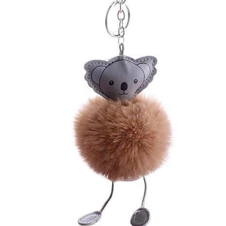 yMaJesT Llavero de Piel sintética con diseño de Koala ...