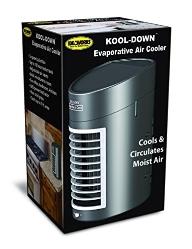 IdeaWorks Kool Down Evaporative Cooler - Enjoy Portable Cooling Relief -DC Adaptor Included - Black