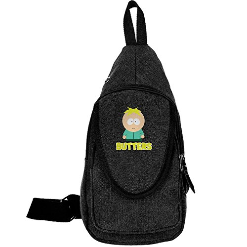 Butters South Park Casual Canvas Unbalance Backpack Sling Bag Men Shoulder Bag Chest Bag