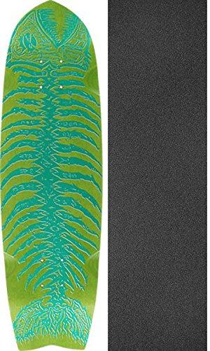 役職宗教放散するAlvaスケートボードDeadピラニアMiniグリーンOld Schoolスケートボードデッキ – 8.5
