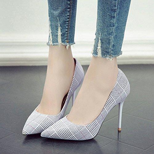 Con Mujer Señaló blanco De M Zapatos De GAOLIM De Sra Zapatos Fino Tacón La Zapatos Primavera Blanco Solo pTwzq7SnWz