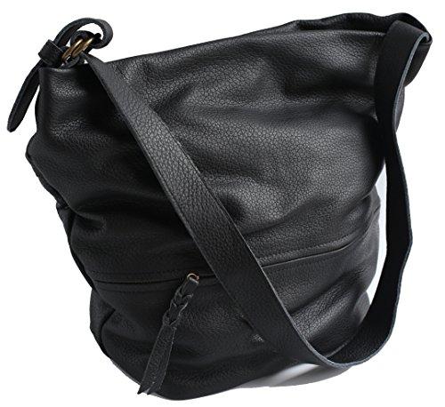 Vendange original design simple retro leather bucket bag short oblique cross bag handbag lady bag 2264a by Vendange