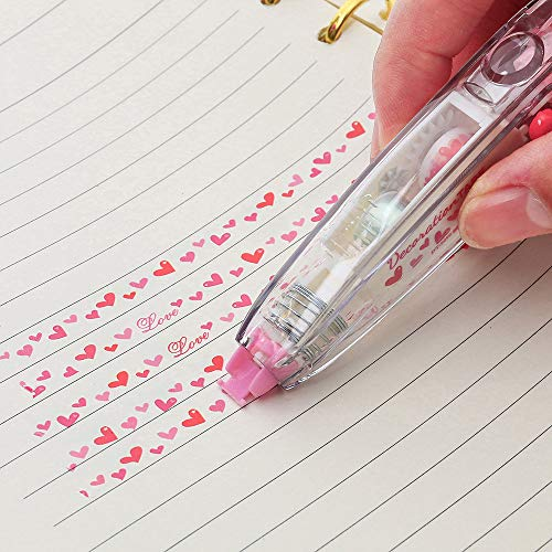Hot Sale!DEESEE(TM)Creative Stationery Push Correction Tape Lace School Supplies (F)