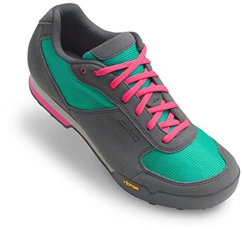 Giro Petra VR Cycling Shoes - Women's Turquoise/Bright Pink 43