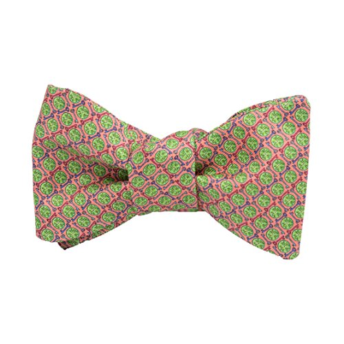 (Peter-Blair Men's Coral Key Lime 100% Silk Bow Tie Handmade in USA (39KLC2BT))