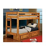 Coaster Wrangle Hill Twin over Twin Bunk Bed in Amber Wash Finish