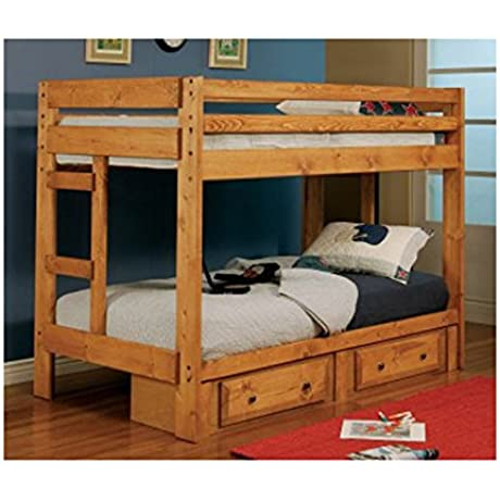 Coaster Home Furnishings 460243 Transitional Bunk Bed Amber Wash