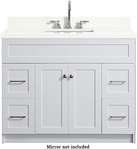 DKB Bradford Series 43 Inch Single Rectangle Sink Bathroom Vanity Cabinet