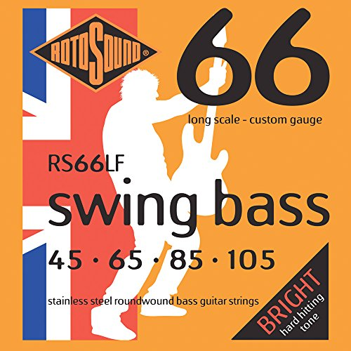 Rotosound RS66LF Swing Bass 66 Stainless Steel Bass Guitar Strings (45 65 85 105) - Six String Bass Guitar
