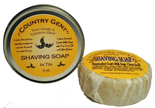 ''Country Gent''® Goat Milk Shaving Soap in a Tin by ''Country Gent''