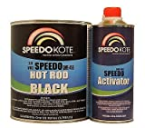 SpeedoKote SMR-456/170 - Hot Rod Black Paint 2.8 voc, Satin 2K Urethane, SMR-456 4:1 Slow Gal. Kit w/Act