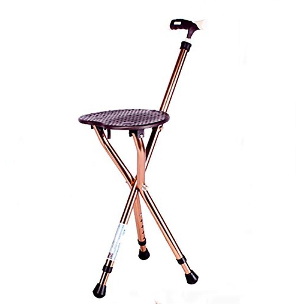 RUIRUI Folding Lightweight Adjustable Height Cane Seat , brown
