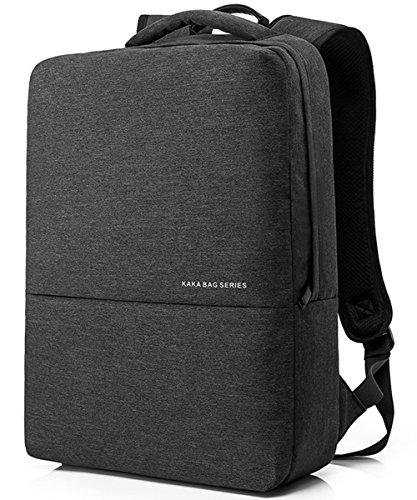 VEVESMUNDO 15.6 inch Laptop Computer Notebook College School Travel Backpack Lightweight Waterproof for Dell HP Lenovo Macbook Acer Alienware for Men Women (Dark Gray)