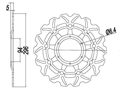 Gzyf New Front Brake Disc Rotor Rotors For Cbr 600 F4i 2001 2006