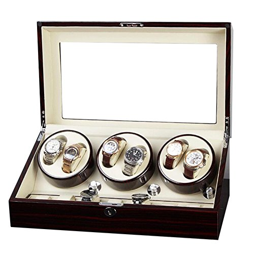 Six Watch Winder with Quiet Motor for Piano Finished -