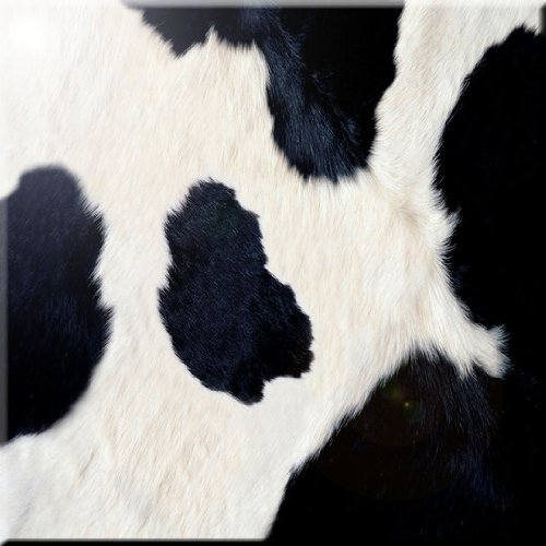 Rikki Knight Cow Hide Design Ceramic Art Tile, 8