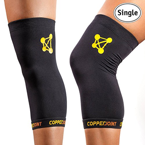 CopperJoint Copper Knee Brace, #1 Compression Fit Support - GUARANTEED Recovery Sleeve - Wear Anywhere - Small - Single (Tru Fit Back Support)