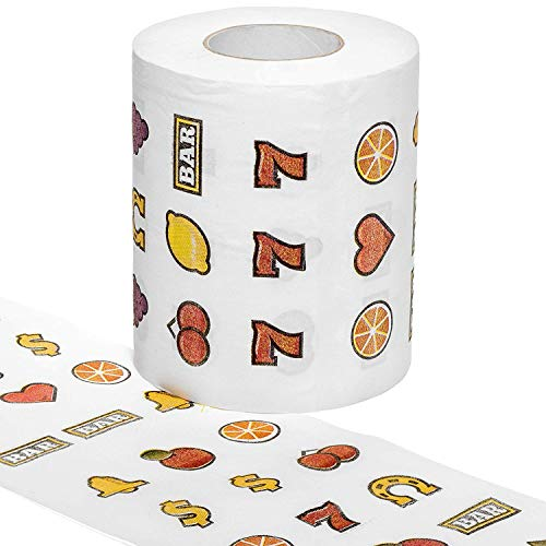 - On-A-Roll products Slot Machine Toilet Paper Gag Gift for Gamblers Poker Players Las Vegas