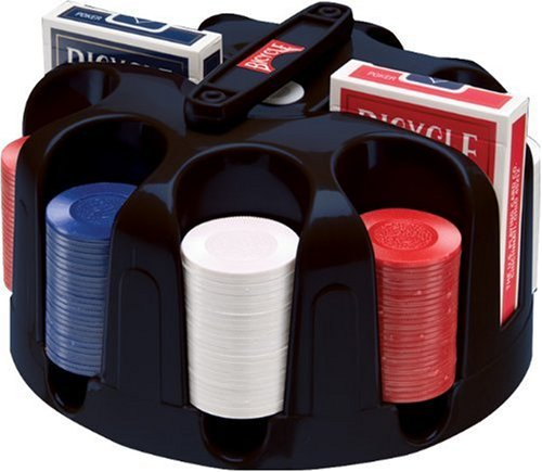 Bicycle Carousel Poker Set, 200 2-Gram Poker Chips and 2 Dec