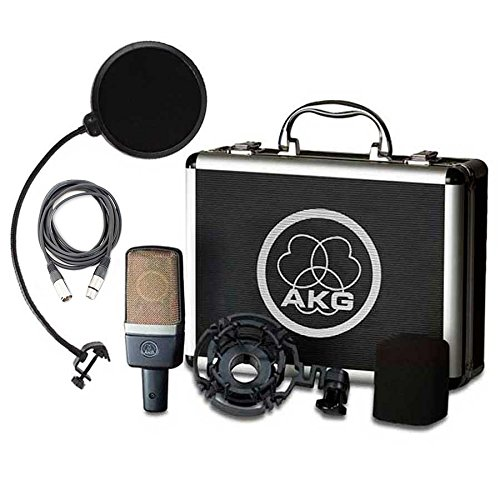 (AKG C214 Large Diaphragm Condenser Microphone with Samson Pop Filter and Cable)