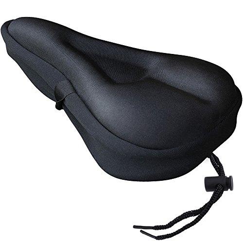 Zacro Gelüberzug für den Fahrradsattel Perfekte für Mountainbike-Sitze und Rennradsättel und wasserdichter Fahrradsattel-Bezug schwarz