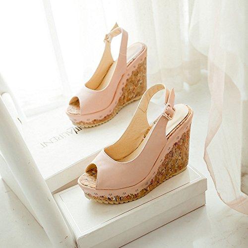 sandali con tacco nine calzature alto Donyyyy pesce donne Thirty pendenza donna e Bocca donne scarpe di qBvIO