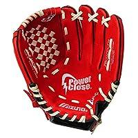 """Guante de béisbol Mizuno Prospect, rojo /crema, juvenil /niños, 11.5 """", usado en la mano izquierda"""