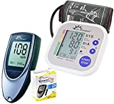 Dr. Morepen BP02 Blood Pressure Monitor and BG03 Glucose Check Monitor Combo (Black)