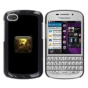 // PHONE CASE GIFT // Duro Estuche protector PC Cáscara Plástico Carcasa Funda Hard Protective Case for BlackBerry Q10 / R R0Ckstar Gaming /