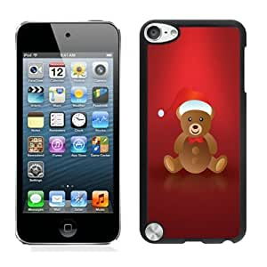 Individualization Lovely Christmas Bear Black iPod Touch 5 Case 1