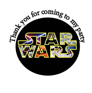 35 x star wars themed stickers 37mm birthday party bag cone round