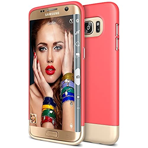 Galaxy S7 Edge Case, Maxboost [Vibrance Series] Protective Slider Case for Samsung Galaxy S7 Edge SOFT-Interior Scratch Protection with Vibrant Color - Italian Rose Sales