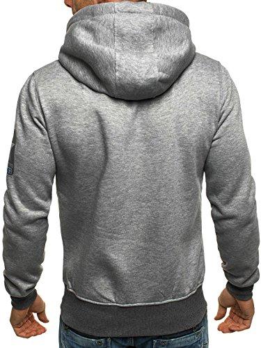 OZONEE Uomo Maglia Pullover Pullover con cappuccio Pullover Sportivi Stampa Fantasia J.STYLE J33 - grigio, M
