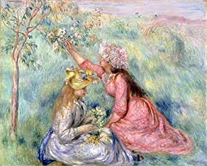 Message, Renoir girl with flowers was