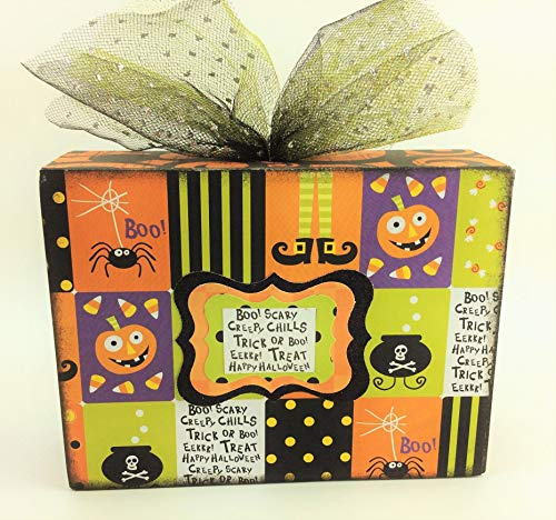 AG Designs Halloween Decor - Box Sitter Whimsy Friendly Trick or Treat -