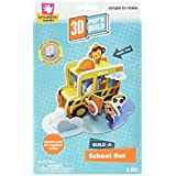 Creative Hands 3D Pop N Build, School Bus