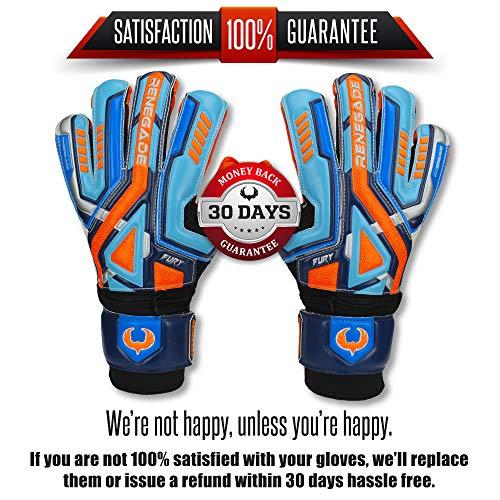Renegade GK Fury Siege Size Goalkeeper Gloves Youth Fingersavers