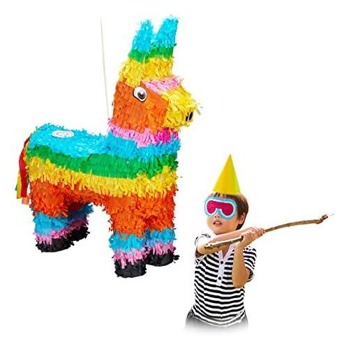 chollos oferta descuentos barato Relaxdays Piñata Llama sin Relleno Papel Multicolor 56 x 41 x 13 cm Pinata Lama einzeln 10026371