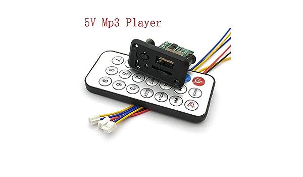 5V 3W MP3 Audio Decoder Power Amplifier Board Micro USB TF Card TE