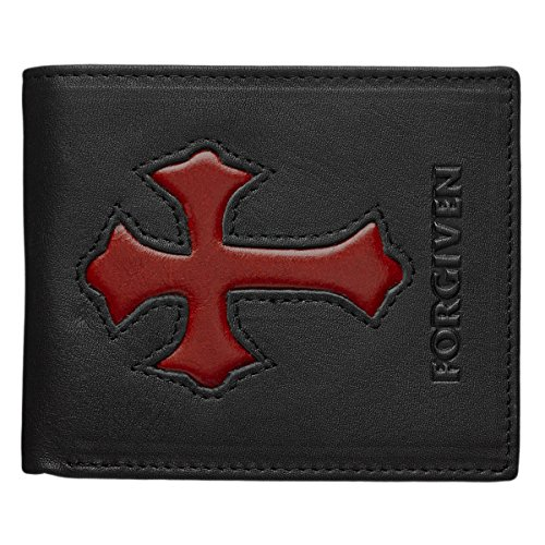 Black Forgiven Genuine Leather Wallet product image