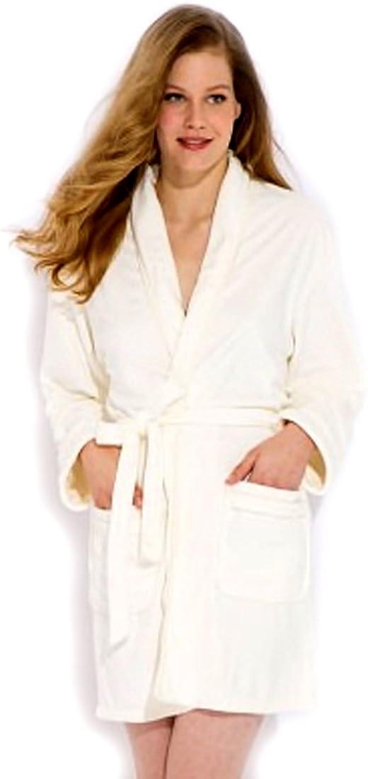 Wrap Up by VP Cream Microfiber short Robe S//M
