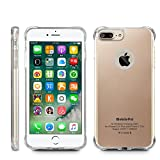 MobilePal Qi Wireless Charging Case for iPhone 7 Plus and iPhone 6(s) Plus [New 2017 Model] (Gold)